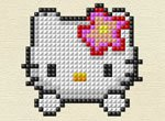 Jogos da hello kitty: Bordado da Hello Kitty