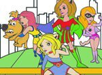 Jogos de colorir: Colorir as Super Girls